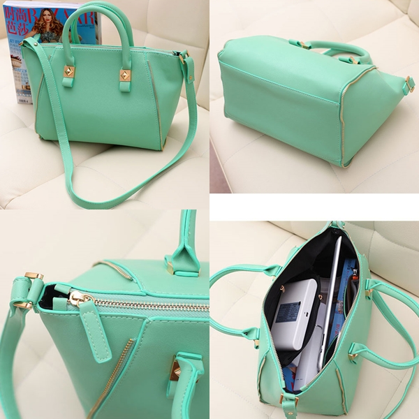 B8256 IDR.205.000 MATERIAL PU SIZE L28XH22XW17CM, STRAP 117CM WEIGHT 700GR COLOR GREEN