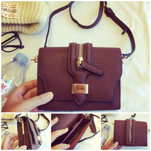 B8405 IDR.165.000 MATERIAL PU SIZE L17XH13XW6CM WEIGHT 500GR COLOR COFFEE