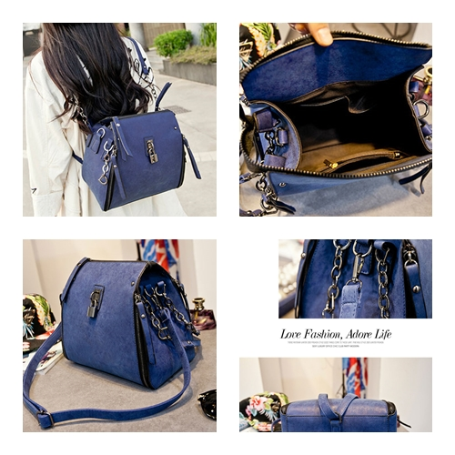 B8411 MATERIAL PU SIZE L21XH25XW11CM WEIGHT 850GR COLOR BLUE