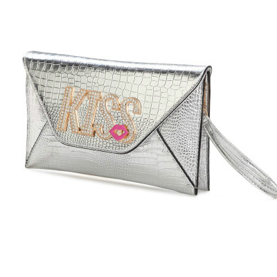 B8421 - Grosir Tas Import IDR.172.000 MATERIAL PU SIZE L28XH18XW2CM WEIGHT 550GR COLOR SILVER