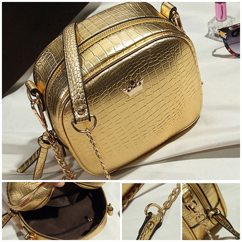 B8436 IDR.154.000 MATERIAL PU SIZE L19XH16XW8CM WEIGHT 500GR COLOR GOLD