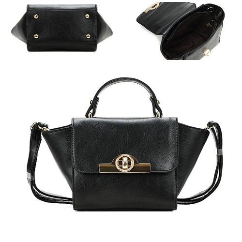 B8483 IDR.163.000 MATERIAL PU SIZE L26XH14XW10CM WEIGHT 550GR COLOR BLACK