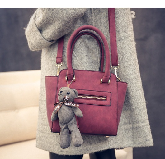 B8672 IDR.187.000 MATERIAL PU SIZE L20XH20-27XW9CM WEIGHT 750GR COLOR RED