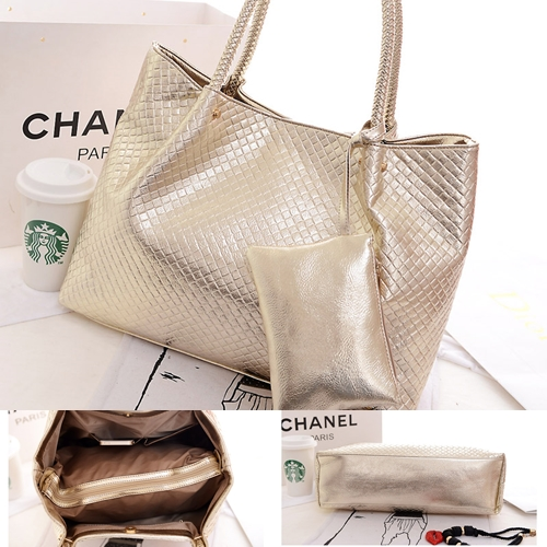 B876(2in1)IDR.195.000 MATERIAL PU SIZE L39XH31XW14CM WEIGHT 750GR COLOR GOLD