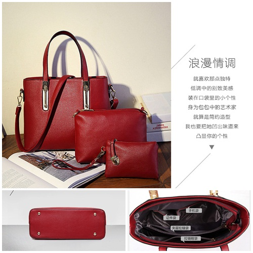 B8939-(3in1) IDR.200.000 MATERIAL PU SIZE L31XH25XW12CM WEIGHT 1000GR COLOR RED