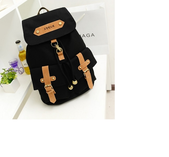 B9074 IDR.145.000 MATERIAL CANVAS SIZE L30XH40XW14CM WEIGHT 650GR COLOR BLACK