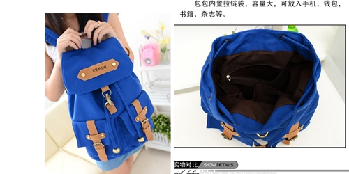 B9074 IDR.145.000 MATERIAL CANVAS SIZE L30XH40XW14CM WEIGHT 650GR COLOR LIGHTBLUE