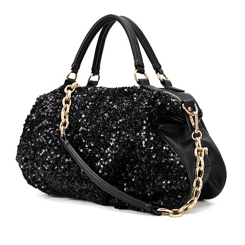 B9103 IDR.155.000 MATERIAL PU+SEQUIN SIZE L42XH28XW12CM WEIGHT 750GR COLOR BLACK