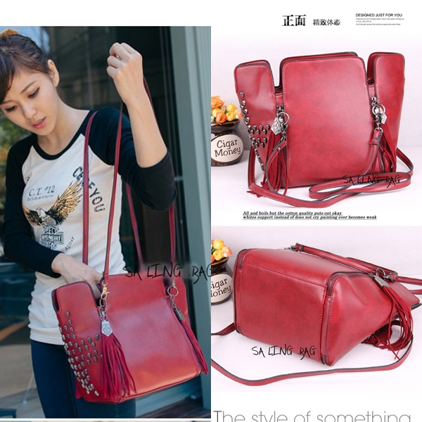 B9104 IDR.184.000 MATERIAL PU SIZE L31XH24XW15CM WEIGHT 800GR WARNA RED