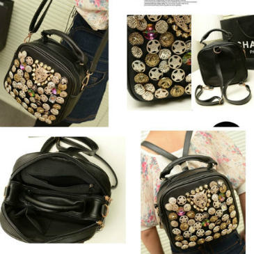 B9393 IDR.159.000 MATERIAL PU SIZE L22XH20XW10CM WEIGHT 650GR COLOR BLACK
