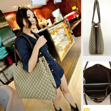 B943 IDR.182.000 MATERIAL PU SIZE L37XH34XW13CM WEIGHT 700GR COLOR KHAKI