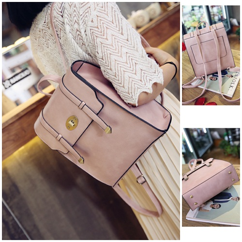 B94820 IDR.165.000 MATERIAL PU SIZE L25XH30XW10CM WEIGHT 750GR COLOR PINK