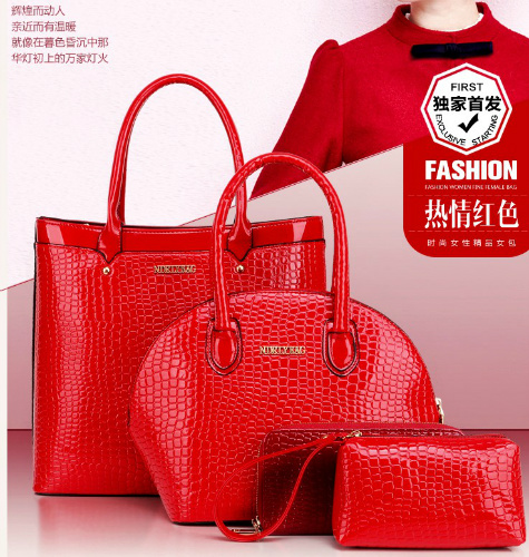 B9747-(4in1) IDR.225.000 MATERIAL PU SIZE BIG-L31XH29,MEDIUM-L21XH22XW12CM WEIGHT 1400GR COLOR RED