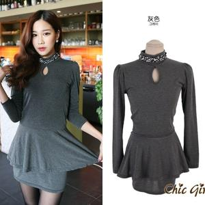 D0856 IDR.93.OOO MATERIAL COTTON-LENGTH-75CM,BUST-68-82CM WEIGHT 250GR COLOR GRAY