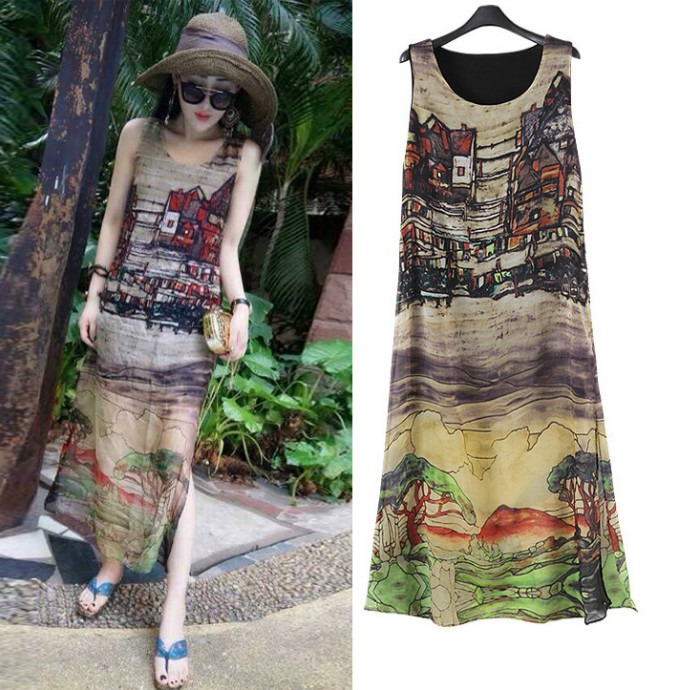D36345 IDR.138.000 MATERIAL CHIFFON+POLYESTER SIZE M-LENGTH-122CM-BUST-86CM WEIGHT 300GR COLOR ASPHOTO