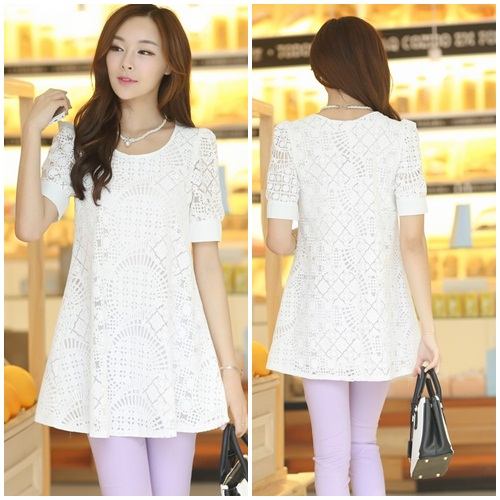 D39460 IDR.128.000 MATERIAL LACE SIZE M-LENGTH75CM-BUST90CM WEIGHT 250GR COLOR WHITE
