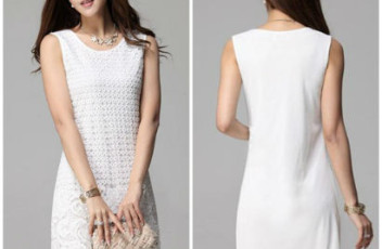 D4043 IDR.128.000 MATERIAL POLYESTER-SIZE-M,L-LENGTH86CM,87CM-BUST89CM,93CM WEIGHT 300GR COLOR WHITE