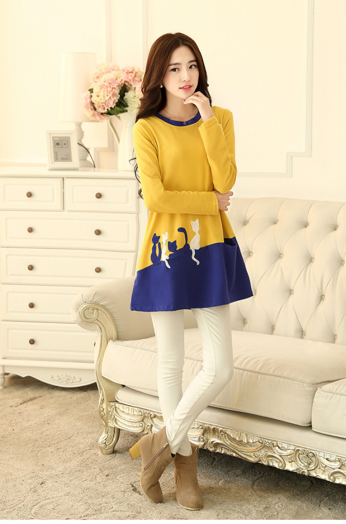 D45941 IDR.125.000 MATERIAL COTTON-SIZE-M-LENGTH72CM-BUST92CM WEIGHT 250GR COLOR YELLOW