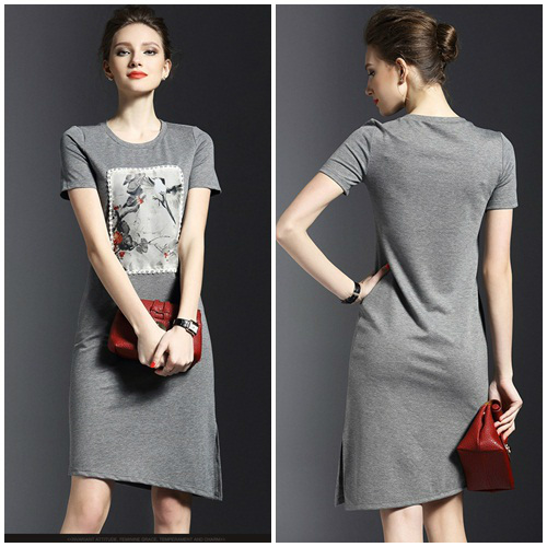 D50925 IDR.160.000 MATERIAL COTTON-LENGTH100CM,BUST88CM WEIGHT 300GR COLOR GRAY
