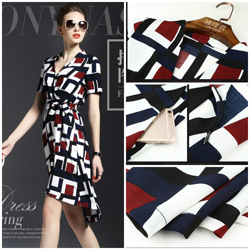D50926 IDR.160.000 MATERIAL POLYESTER-LENGTH100CM,BUST86CM WEIGHT 250GR COLOR BLUE