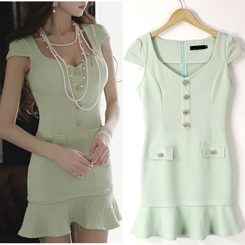 D60002 IDR.121.OOO MATERIAL ELASTIC COTTON LENGTH 70CM BUST 85CM WAIST 70CM WEIGHT 230GR COLOR RED, LIGHT GREEN (2)