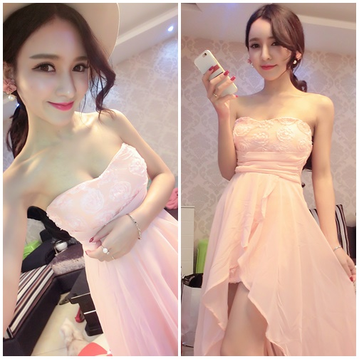 D67589 IDR.152.000 MATERIAL CHIFFON+COTTON LENGTH100CM BUST88CM WEIGHT 300GR COLOR PINKK
