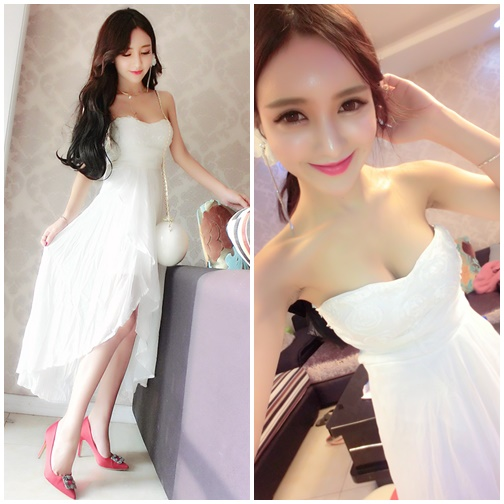 D67589 IDR.152.000 MATERIAL CHIFFON+COTTON LENGTH100CM BUST88CM WEIGHT 300GR COLOR WHITE