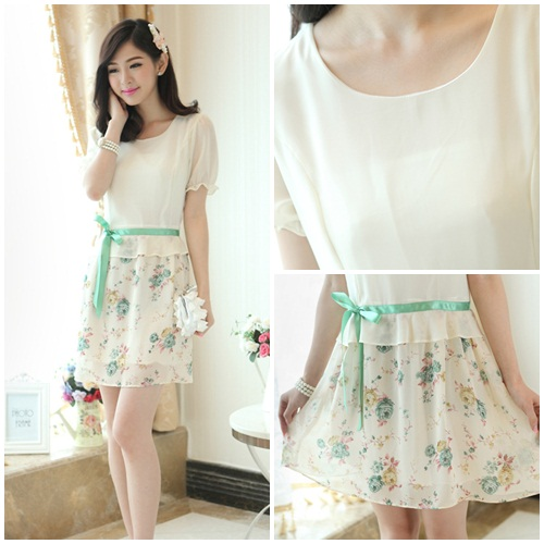 D7809 IDR.150.000 MATERIAL CHIFFON SIZE M-LENGTH83CM-BUST92CM WEIGHT 250GR COLOR GREEN