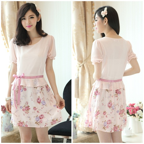 D7809 IDR.150.000 MATERIAL CHIFFON SIZE M-LENGTH83CM-BUST92CM WEIGHT 250GR COLOR PINK