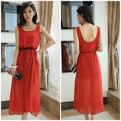 D7821-WITHBELT IDR.106.000 MATERIAL CHIFFON LENGTH115CM BUST84CM WEIGTH 250GR COLOR ORANGE