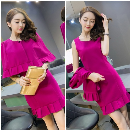 D8211-(2PCS) IDR.155.000 MATERIAL ROMA-COTTON-SIZE-M,L-LENGTH83CM,84CM-BUST82CM,86CM-WAIST68CM,72CM WEIGHT 350GR COLOR ROSE
