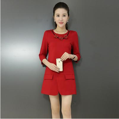 D8698-(INC-NECKLACE) IDR.144.000 MATERIAL COTTON-SIZE-M,L-LENGTH79CM,80CM-BUST84CM,88CM WEIGHT 300GR COLOR RED