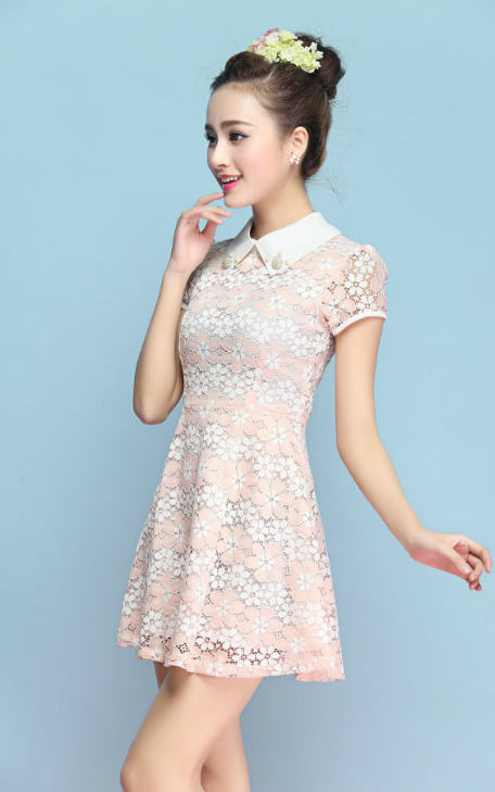 D9961 IDR.155.000 MATERIAL LACE-LENGTH79CM-BUST80CM WEIGHT 250GR COLOR PINK