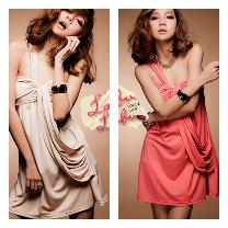 DJ8357 IDR.94.OOO MATERIAL ELASTIC-COTTON-LENGTH-68CM,BUST-82CM,WAIST-62-82CM WEIGHT 240GR COLOR APRICOT,RED