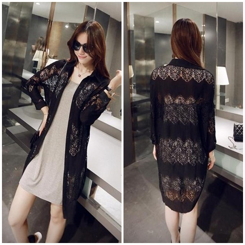 J60313 IDR.135.000 MATERIAL LACE LENGTH 96CM WEIGHT 220GR COLOR BLACK