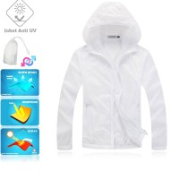 JUV001 IDR 125.000 JAKET UNISEX BAHAN POLYESER ANTI UV SIZE M, L, XL, XXL WEIGHT 100GR COLOR WHITE - Jaket Anti UV