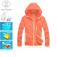 JUV002 IDR 125.000 JAKET UNISEX BAHAN POLYESER ANTI UV SIZE XL, XXL WEIGHT 100GR COLOR ORANGE - Jaket Anti UV