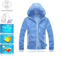 JUV005 IDR 125.000 JAKET UNISEX BAHAN POLYESER ANTI UV SIZE M, L, XL, XXL WEIGHT 100GR COLOR BLUE - Jaket Anti UV