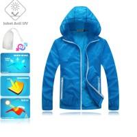 JUV006 IDR 125.000 JAKET UNISEX BAHAN POLYESER ANTI UV SIZE M, L, XL, XXL WEIGHT 100GR COLOR DARK BLUE - Jaket Anti UV