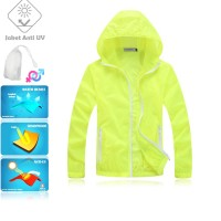 JUV007 IDR 125.000 JAKET UNISEX BAHAN POLYESER ANTI UV SIZE M, XL, XXL WEIGHT 100GR COLOR LIGHT GREEN - Jaket Fashion Anti UV UPF50+