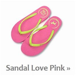 Koleksi Sandal Jepit Import Pink Love