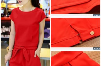 LS55298 IDR.138.000 MATERIAL POLYESTER-SIZE-M,L-TOP43,44CM-PANT33,34CM-BUST92,96CM-WAIST66,70CM WEIGHT 350GR COLOR RED