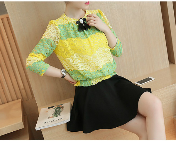 LS59434 IDR.173.000 MATERIAL LACE-SIZE-M,L-TOP62,63CM-BUST94,98CM WEIGHT 300GR COLOR YELLOW