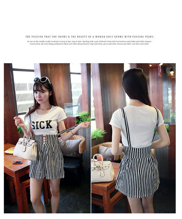 LS8593(1SET) IDR.120.000 MATERIAL COTTON TOP 32CM SKIRT 47CM WAIST 78CM WEIGHT 300GR COLOR STRIPE