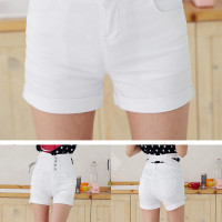 P33137 IDR.137.OOO MATERIAL DENIM SIZE M,L LENGTH 31CM,32CM WAIST 70CM,74CM HIPS 86CM,90CM WEIGHT 300GR COLOR WHITE