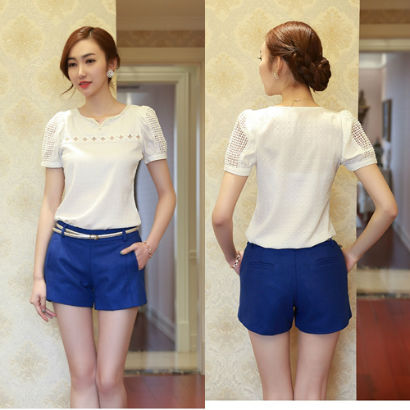 P4950 IDR.1O1.OOO MATERIAL COTTON-SIZE-M,L,XL-LENGTH-34CM,35CM,36CM-WAIST-72CM,76CM,80CM-HIPS-88CM,92CM,96CM WEIGHT 230GR COLOR BLUE