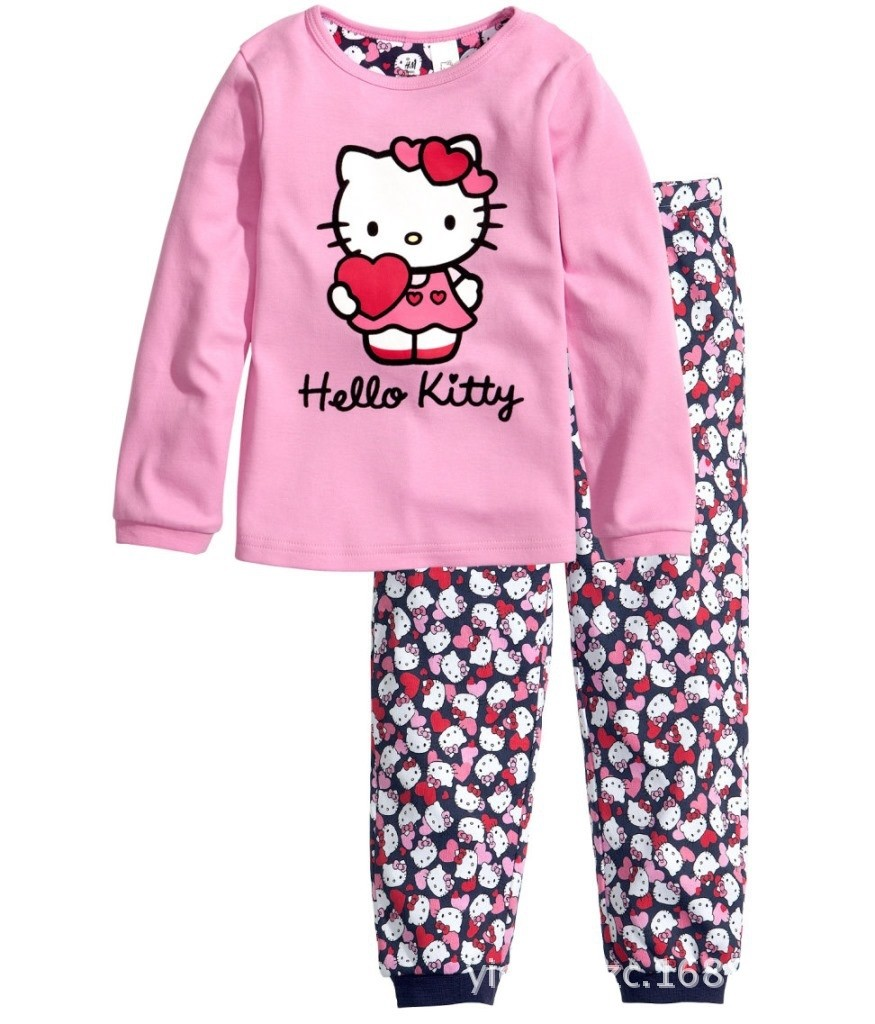 PJ041 BAJU TIDUR ANAK HELLOKITTY IDR 75.000 BAHAN COTTON SIZE 90,95,100,110,120,130 WEIGHT 500GR COLOR PINK