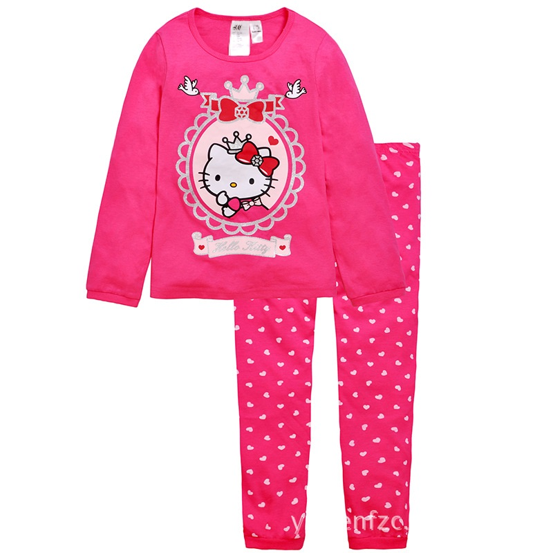 PJ155 BAJU TIDUR ANAK HELLOKITTY IDR 75.000 BAHAN COTTON SIZE 90,95,100,110,120,130 WEIGHT 500GR COLOR ROSE