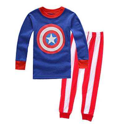 PJ698 BAJU TIDUR ANAK CAPTAIN AMERICA IDR 75.000 BAHAN COTTON SIZE 90,95,100,110,120,130 WEIGHT 500GR COLOR BLUE