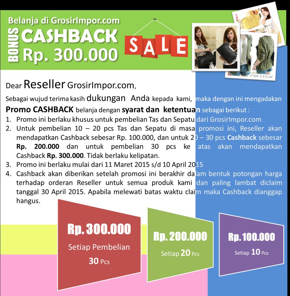 Promo Cashback GrosirImpor.com